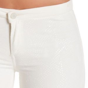 French Connection Cobra Foil Print Jeans in White
